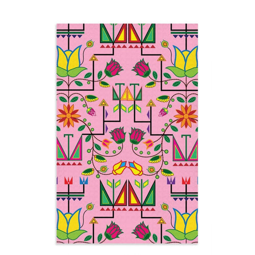 Geometric Floral Summer - Sunset Dish Towel 49 Dzine 16x25 inch