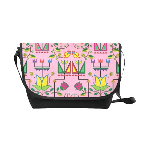 Geometric Floral Summer-Sunset New Messenger Bag (Model 1667) New Messenger Bags (1667) e-joyer