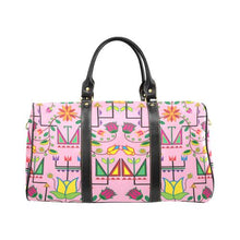 Geometric Floral Summer-Sunset New Waterproof Travel Bag/Large (Model 1639) Waterproof Travel Bags (1639) e-joyer