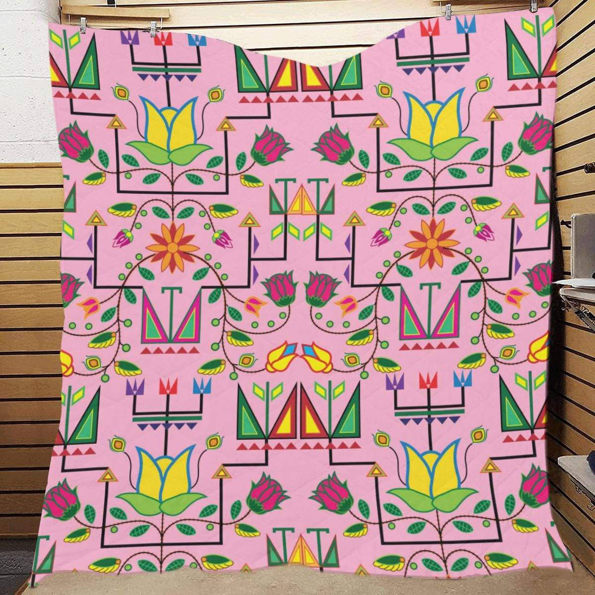 Geometric Floral Summer - Sunset Quilt 70