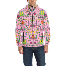 Geometric Floral Summer - Sunset Unisex Quilted Coat All Over Print Quilted Windbreaker for Men (H35) e-joyer