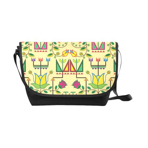 Geometric Floral Summer-Vanilla New Messenger Bag (Model 1667) New Messenger Bags (1667) e-joyer