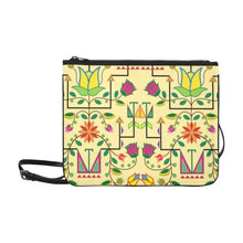 Geometric Floral Summer-Vanilla Slim Clutch Bag (Model 1668) Slim Clutch Bags (1668) e-joyer