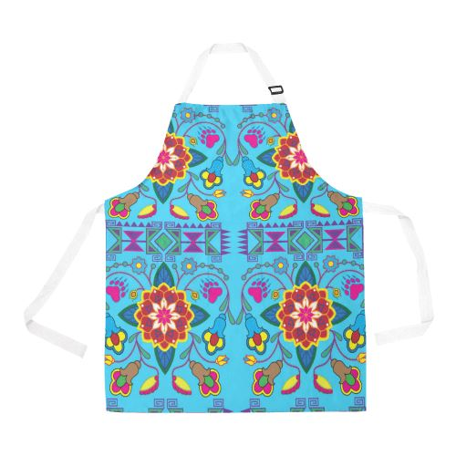 Geometric Floral Winter All Over Print Apron All Over Print Apron e-joyer