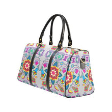 Geometric Floral Winter-Gray New Waterproof Travel Bag/Large (Model 1639) Waterproof Travel Bags (1639) e-joyer
