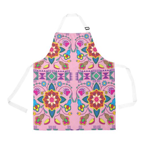 Geometric Floral Winter-Sunset All Over Print Apron All Over Print Apron e-joyer