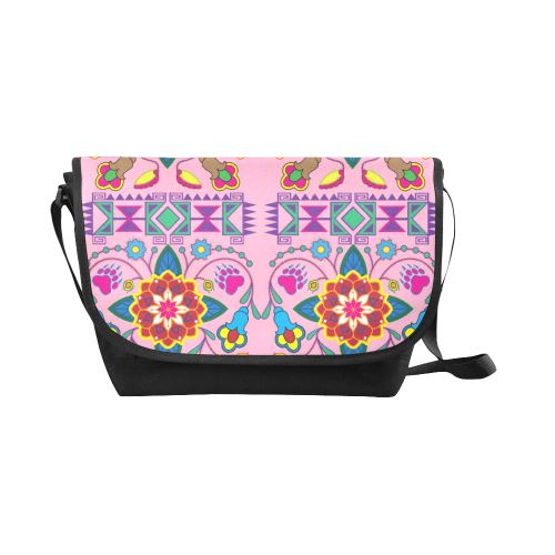 Geometric Floral Winter-Sunset New Messenger Bag (Model 1667) New Messenger Bags (1667) e-joyer