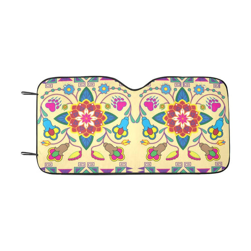 Geometric Floral Winter-Vanilla Car Sun Shade 55