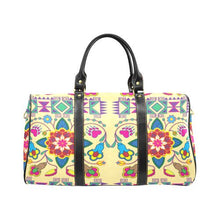 Geometric Floral Winter-Vanilla New Waterproof Travel Bag/Large (Model 1639) Waterproof Travel Bags (1639) e-joyer