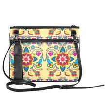 Geometric Floral Winter-Vanilla Slim Clutch Bag (Model 1668) Slim Clutch Bags (1668) e-joyer