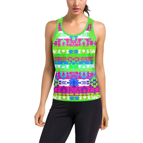 Grand Entry Jingle Women's Racerback Tank Top (Model T60) Racerback Tank Top (T60) e-joyer