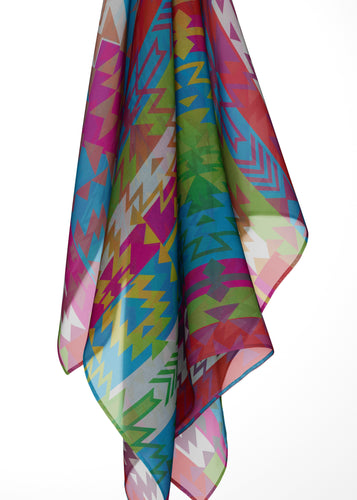 Grand Entry Large Square Chiffon Scarf fashion-scarves 49 Dzine