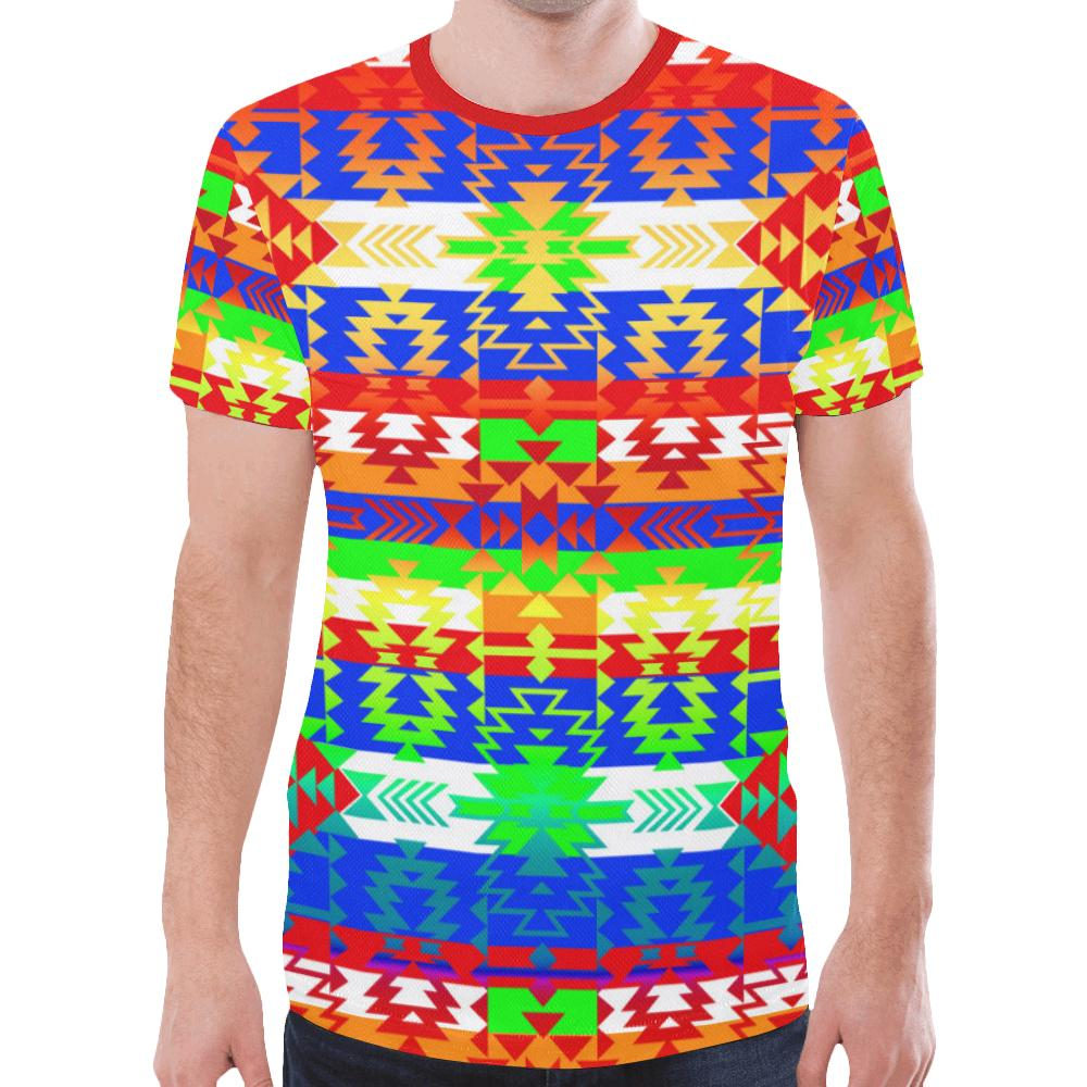 Grand Entry Traditional New All Over Print T-shirt for Men/Large Size (Model T45) New All Over Print T-shirt for Men/Large (T45) e-joyer
