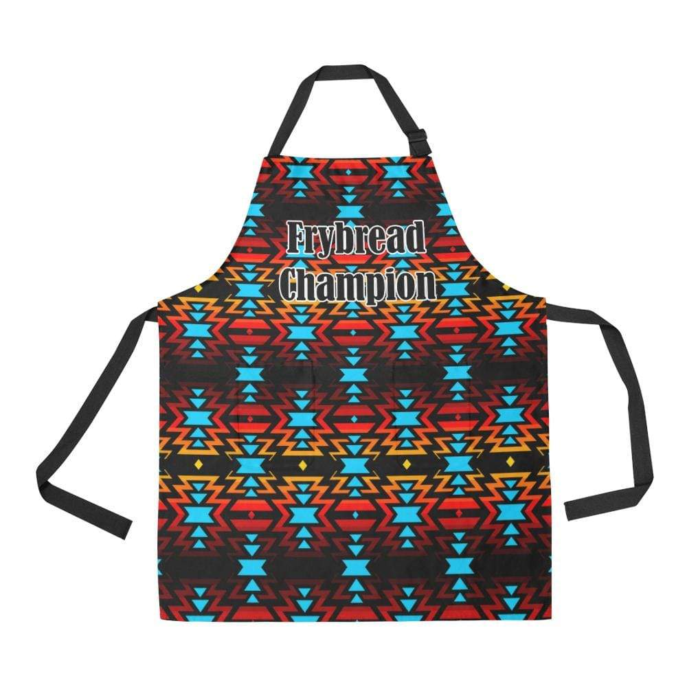 Hoodie Front Black Fire and Sky Frybread Champion All Over Print Apron All Over Print Apron e-joyer