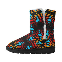Hoodie Front Black Fire and Sky Unisex Single Button Snow Boots (Model 051) Unisex Single Button Snow Boots (051) e-joyer
