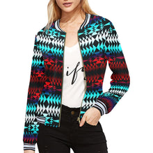 In Between Two Worlds All Over Print Bomber Jacket for Women (Model H21) All Over Print Bomber Jacket for Women (H21) e-joyer