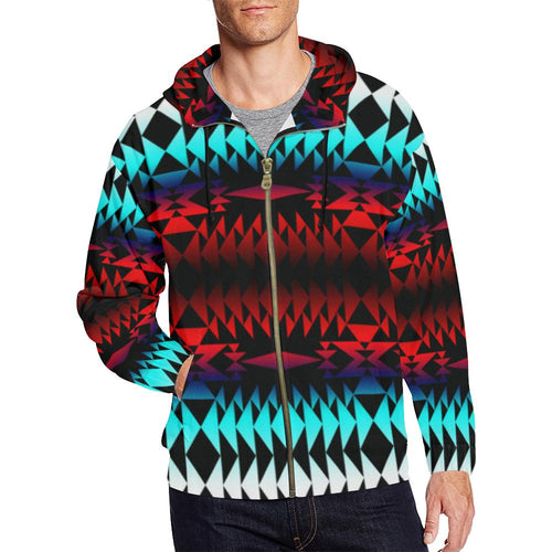 In Between Two Worlds All Over Print Full Zip Hoodie for Men (Model H14) All Over Print Full Zip Hoodie for Men (H14) e-joyer