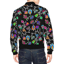 Indigenous Paisley Black All Over Print Bomber Jacket for Men/Large Size (Model H19) All Over Print Bomber Jacket for Men/Large (H19) e-joyer