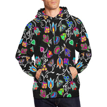 Indigenous Paisley - Black All Over Print Hoodie for Men/Large Size (USA Size) (Model H13) All Over Print Hoodie for Men/Large (H13) e-joyer
