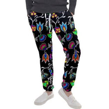 Indigenous Paisley Black Men's Jogger Sweatpants FullShirt 49 Dzine