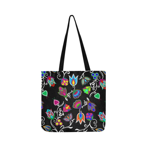 Indigenous Paisley - Black Reusable Shopping Bag Model 1660 (Two sides) Shopping Tote Bag (1660) e-joyer