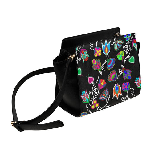 Indigenous Paisley - Black Satchel Bag (Model 1635) Satchel Bag (1635) e-joyer