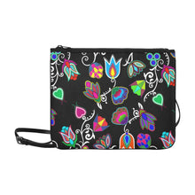 Indigenous Paisley - Black Slim Clutch Bag (Model 1668) Slim Clutch Bags (1668) e-joyer