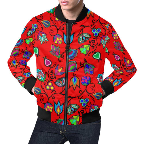 Indigenous Paisley - Dahlia All Over Print Bomber Jacket for Men/Large Size (Model H19) All Over Print Bomber Jacket for Men/Large (H19) e-joyer