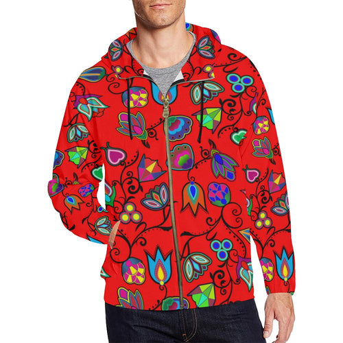 Indigenous Paisley - Dahlia All Over Print Full Zip Hoodie for Men (Model H14) All Over Print Full Zip Hoodie for Men (H14) e-joyer