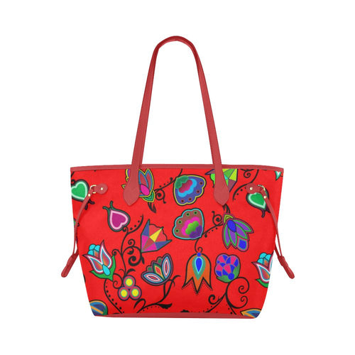 Indigenous Paisley - Dahlia Clover Canvas Tote Bag (Model 1661) Clover Canvas Tote Bag (1661) e-joyer