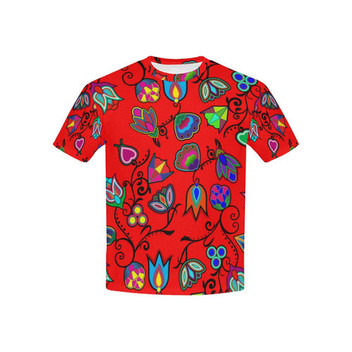 Indigenous Paisley - Dahlia Kids' All Over Print T-shirt (USA Size) (Model T40) All Over Print T-shirt for Kid (T40) e-joyer