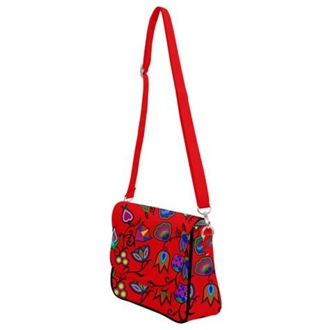 Indigenous Paisley Dahlia Shoulder Bag with Back Zipper 49 Dzine