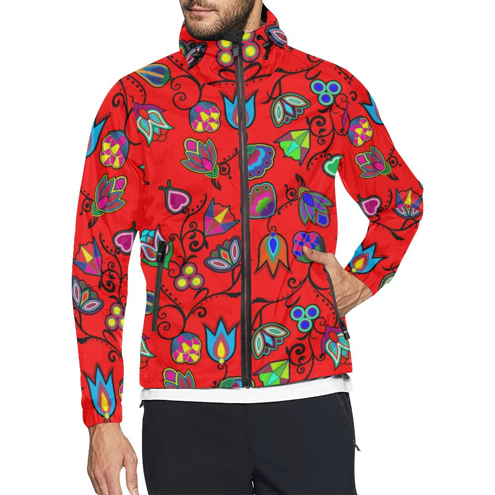 Indigenous Paisley - Dahlia Unisex All Over Print Windbreaker (Model H23) All Over Print Windbreaker for Men (H23) e-joyer
