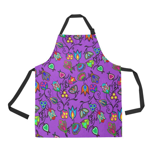 Indigenous Paisley Dark Orchid All Over Print Apron All Over Print Apron e-joyer