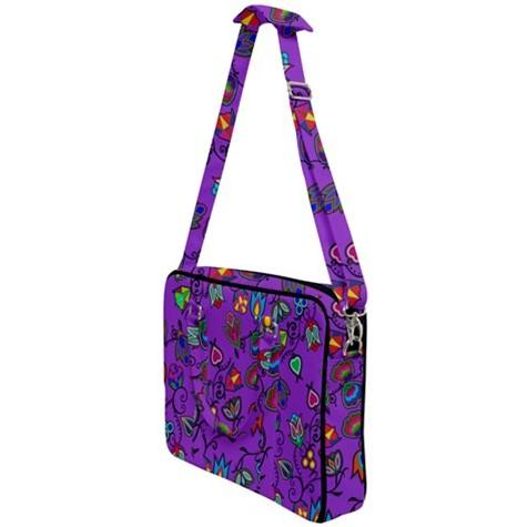 Indigenous Paisley Dark Orchid Cross Body Office Bag 49 Dzine