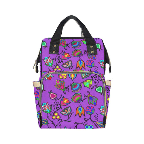 Indigenous Paisley - Dark Orchid Multi-Function Diaper Backpack (Model 1688) Diaper Backpack (1688) e-joyer