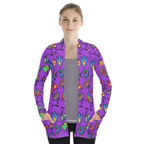 Indigenous Paisley Dark Orchid Open Front Pocket Cardigan 49 Dzine