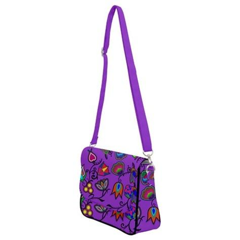Indigenous Paisley Dark Orchid Shoulder Bag with Back Zipper 49 Dzine
