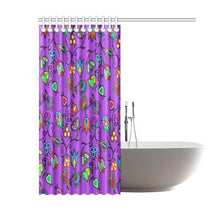 "Indigenous Paisley - Dark Orchid Shower Curtain 60""x72"" Shower Curtain 60""x72"" e-joyer"