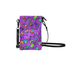 Indigenous Paisley - Dark Orchid Small Cell Phone Purse (Model 1711) Small Cell Phone Purse (1711) e-joyer