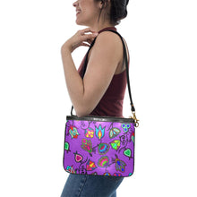Indigenous Paisley - Dark Orchid Small Shoulder Bag (Model 1710) Small Shoulder Bag (1710) e-joyer
