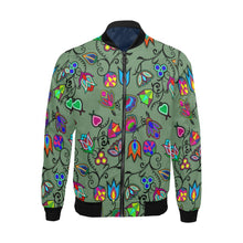 Indigenous Paisley - Dark Sea All Over Print Bomber Jacket for Men/Large Size (Model H19) All Over Print Bomber Jacket for Men/Large (H19) e-joyer