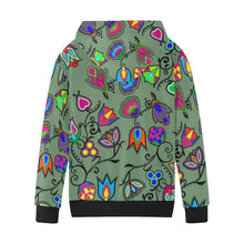 Indigenous Paisley Dark Sea Kids' All Over Print Hoodie (Model H38) Kids' AOP Hoodie (H38) e-joyer