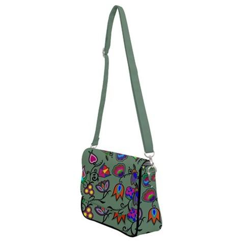 Indigenous Paisley Dark Sea Shoulder Bag with Back Zipper 49 Dzine