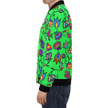 Indigenous Paisley - Green All Over Print Bomber Jacket for Men/Large Size (Model H19) All Over Print Bomber Jacket for Men/Large (H19) e-joyer