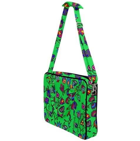 Indigenous Paisley Green Cross Body Office Bag 49 Dzine