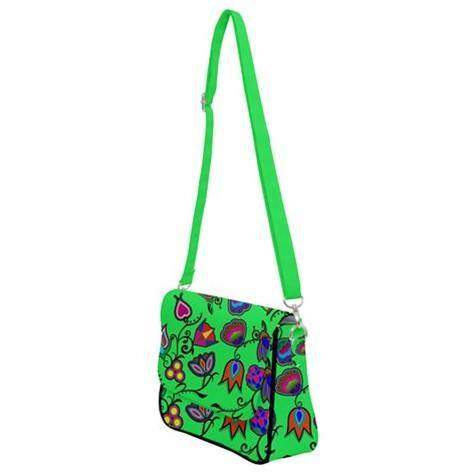 Indigenous Paisley Green Shoulder Bag with Back Zipper 49 Dzine