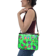 Indigenous Paisley - Green Small Shoulder Bag (Model 1710) Small Shoulder Bag (1710) e-joyer