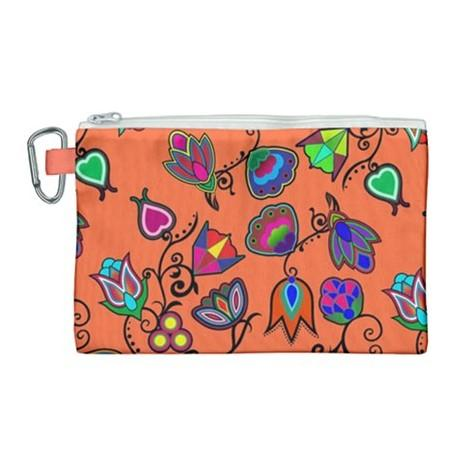 Indigenous Paisley Sierra Canvas Cosmetic Bag (Large) cosmetic-bags 49 Dzine
