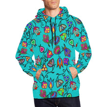 Indigenous Paisley - Sky All Over Print Hoodie for Men/Large Size (USA Size) (Model H13) All Over Print Hoodie for Men/Large (H13) e-joyer